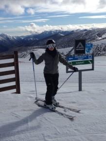 Jenny Freeman Skiing